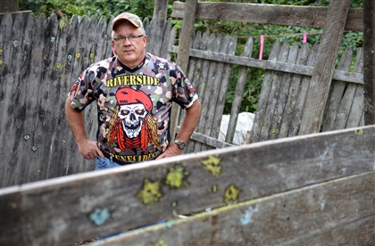 "Neil ""Buddy"" Wright at the site of his paintball business, Riverside Renegades Paintball, which he has used since 1989."