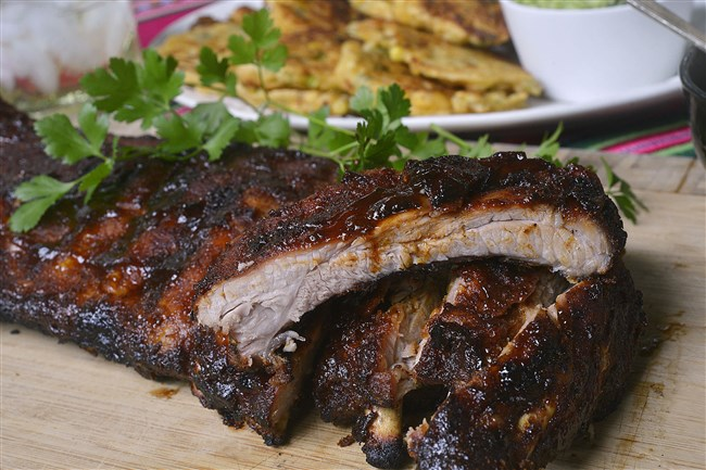 Baby Back Ribs with Maple Chipotle Sauce