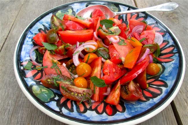 Tomato-Mint Salad.