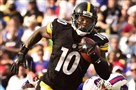 Pittsburgh Steelers Martavis Bryant scores touchdown against the Bills in the second quarter at Ralph Wilson Stadium Orchard Park New York.