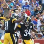 Steelers RB DeAngelo Williams celebrates his touchdown in the first quarter against the Buffalo Bills Saturday at Ralph Wilson Stadium in Orchard Park, New York.