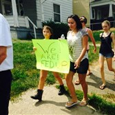 Marchers on Saturday protest the recent spike in heroin overdoses in Washington County.