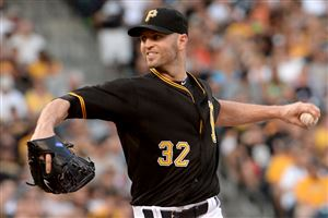 Pirates starter J.A. Happ pitches against the Rockies Saturday at PNC Park.