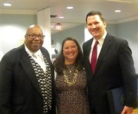 Rev. Andrew K. Newberry with honoree Ted Kerr and his wife.