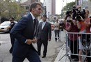 New England Patriots quarterback Tom Brady arrives at federal court in New York City today.