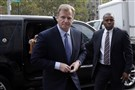 NFL Commissioner Roger Goodell arrives at federal court in New York on Monday.