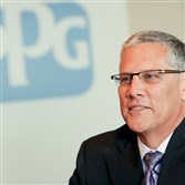 Michael McGarry, CEO of PPG Industries, at his office at One PPG Place, Downtown, Pittsburgh.