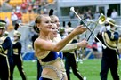 The Golden Girls twirlers perform with the Pitt band at Heinz Field.