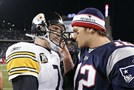 Tom Brady and Ben Roethlisberger in 2007.