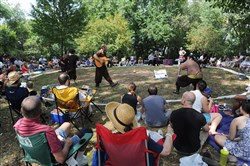 "More than 100 people turned out to Frick Park for Pittsburgh Shakespeare in the Parks presents ""King Lear"" in 2015."