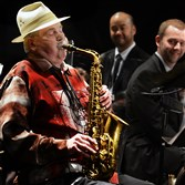 Iconic jazz alto saxophonist Phil Woods performs at the Manchester Craftsmen's Guild in early September. Mr. Woods, who was battling emphysema, died Tuesday morning.