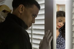 "Michael Ealy gets a little too close to Sanaa Lathan ""The Perfect  Guy."""