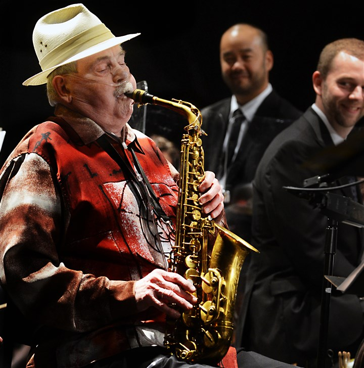 20150903ng-Woods1 Iconic jazz alto saxophonist Phil Woods performs at the Manchester Craftsmen's Guild and announces his retirement.