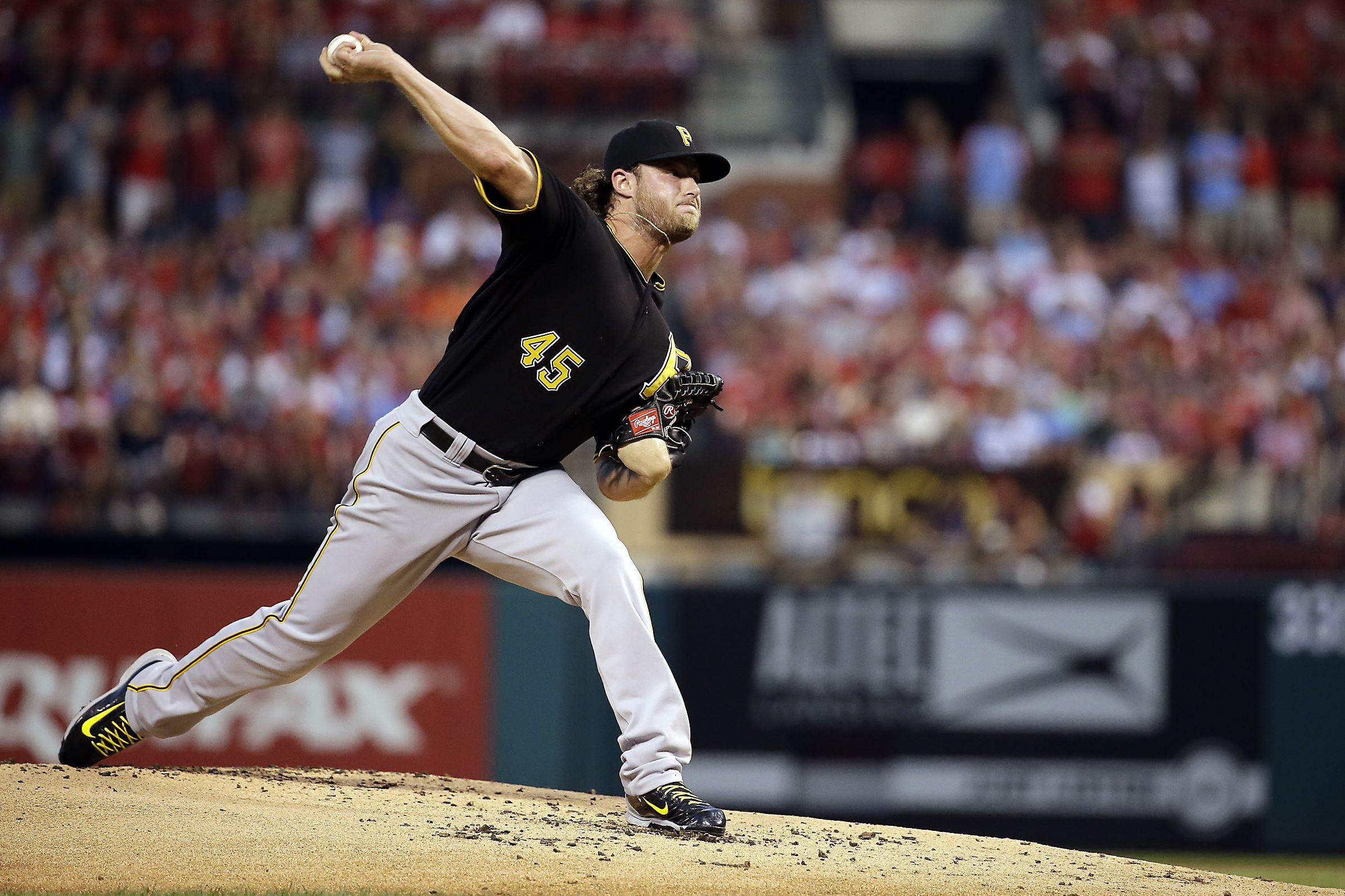 Gerrit Cole Pirates Playoffs Cole delivers o...
