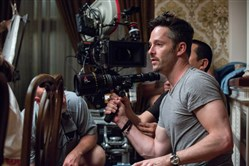 "Director/producer Scott Cooper on the set of the drama ""Black Mass."