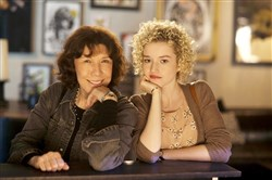 "Lily Tomlin as Elle gives plenty of advice to Julia Garner as Sage in ""Grandma."""