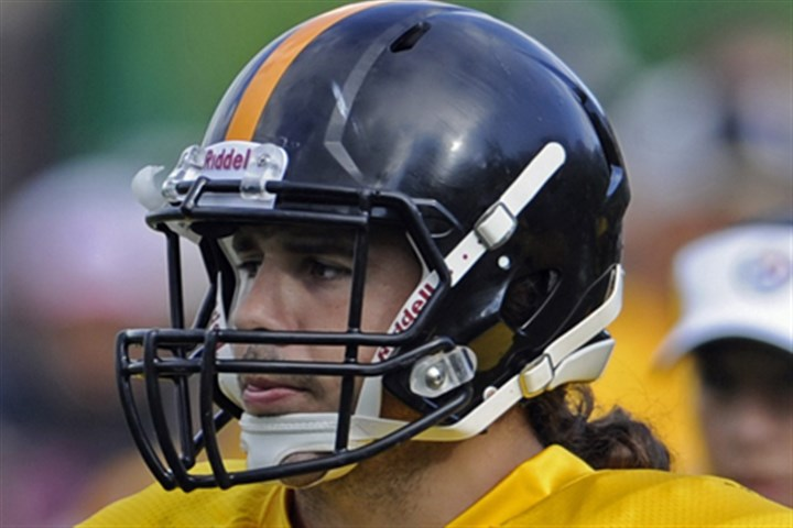 steeler food ventrone-1 Ross Ventrone waits his turn during a drill during training camp in Latrobe.