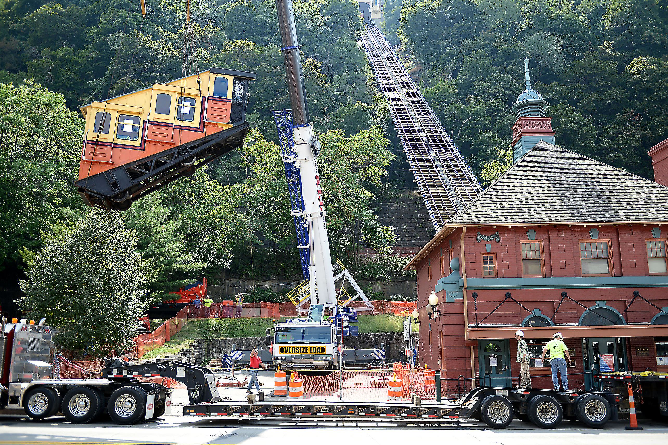 Repair Project Takes Monongahela Incline Cars Off The