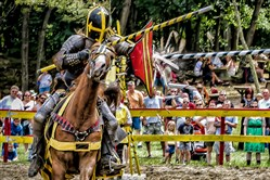 Jousting knights at the Pittsburgh Renaissance Festival/