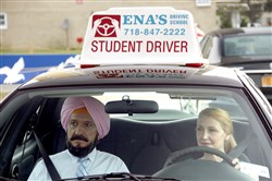 "Ben Kingsley stars as Darwan and Patricia Clarkson as Wendy in Broad Green Pictures upcoming release, ""Learning to Drive."""