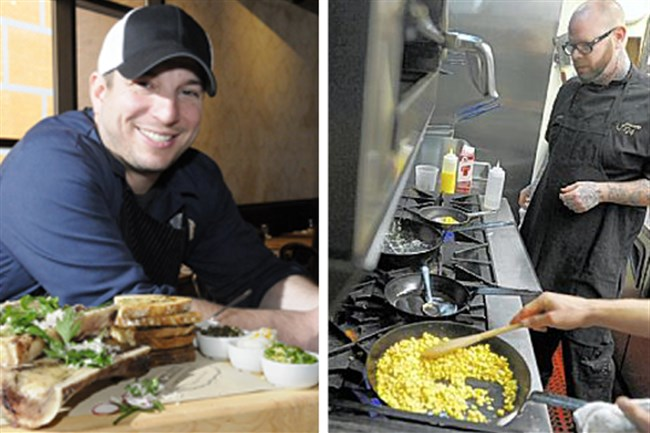 Richard DeShantz, left, and Keith Fuller, are teaming up to create Pork & Beans, a new restaurant to open in May.