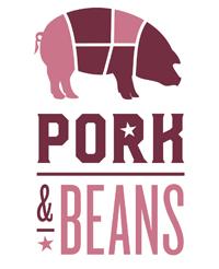 Pork & Beans logo Logo for planned downtown restaurant Pork & Beans