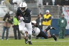 Nittany Lions wide receiver Chris Godwin runs with the ball during the first quarter against the Buffalo Bulls at Beaver Stadium.