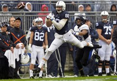 Penn State tight end Mike Gesicki (88) in action in a game in the 2015 season.