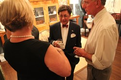 "Honorary chair interior designer Louis Talotta of Parke Interiors holds court during ""Antiques Reimagined,"" at the Edgeworth Club, Sewickley."