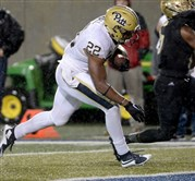 Pitt's Darrin Hall scores a touchdown against Akron in the fourth quarter at InfoCision Stadium - Summa Field.