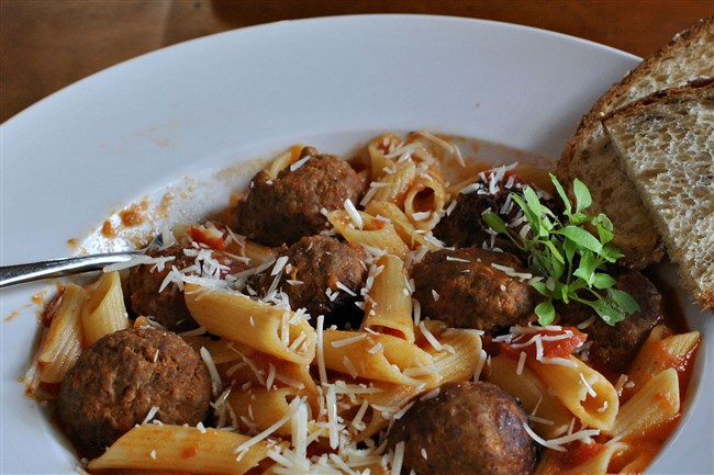 Penne with Meatballs.