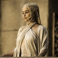 "Emilia Clarke as Daenerys Targaryen was among the cast filming ""Game of Thrones"" in Osuna, Spain."