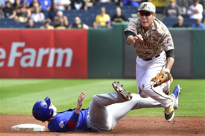 "20150917pdPiratesSports03-1 Thanks in large part to last season's Chris Coghlan-Jung Ho Kang collision, we now have the ""bona fide slide"" in the sports lexicon."