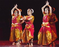 "University of Pittsburgh Nrityamala Dance Troupe performs at the Pittsburgh Cultural Trust's ""The Grand Marigold Gala 2015."""