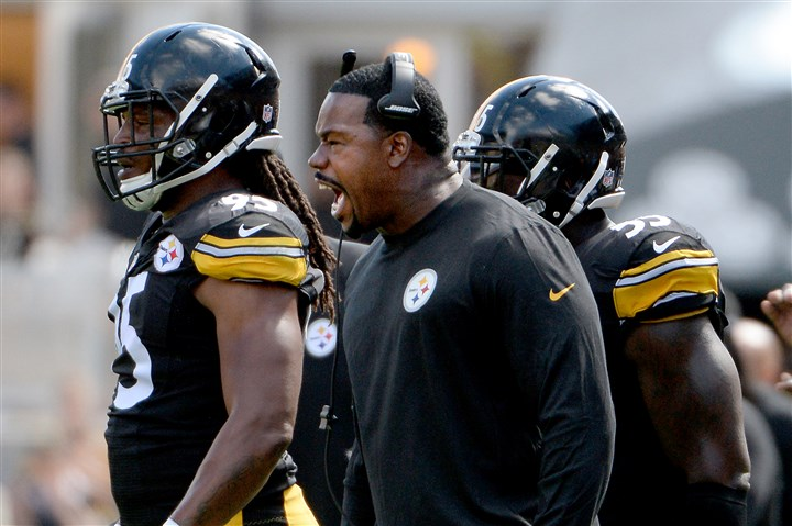 20150920mfsteelerssports06 Steelers outside linebackers coach Joey Porter was fined $10,000 for being on the field at the end of the fourth quarter.