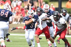 P.J. Fulmore, a Cardinal Wuerl North Catholic grad, has broken free for plenty of yards out of the Duquesne University backfield.