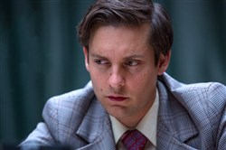 "Tobey Maguire stars as Bobby Fischer in Edward Zwick's ""Pawn Sacrifice."""
