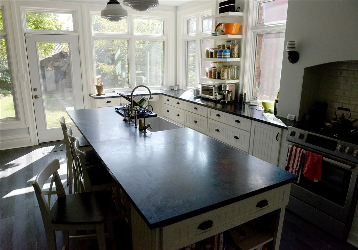 Couple's 'new' city home a canvas for their tastes | Pittsburgh Post on soapstone suppliers in pa, soapstone countertops lancaster pa, soapstone slabs,