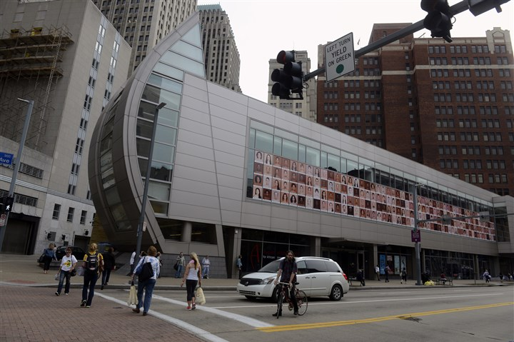 20150925bwAugustSeen11-10 The August Wilson Center on Liberty Avenue, Downtown.