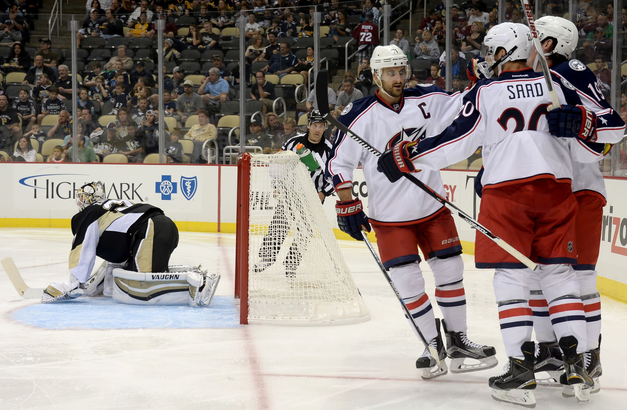 Penguins lose to Blue Jackets 4-2 in preseason game at Consol