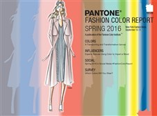 A spectrum of colors that's been predicted to be popular in fashion for spring 2016 is seen in a screen grab from the report posted at pantone.com.