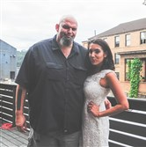 Mayor of Braddock, John Fetterman, and his wife, Gisele.