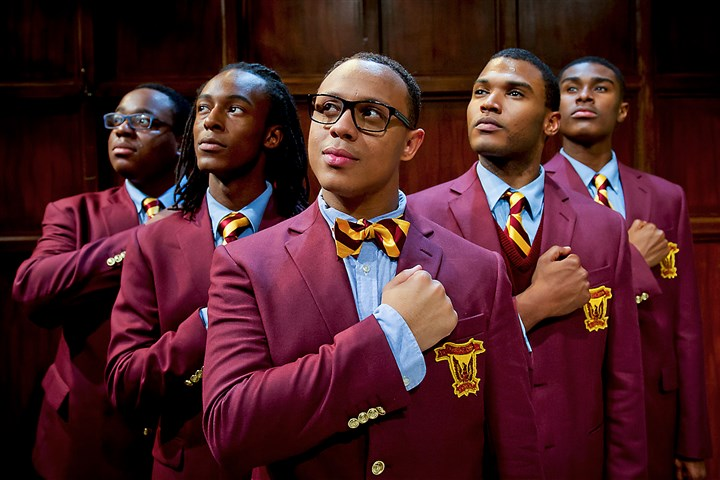 "2015ChoirBoyTheRep0930 The boys of ""Choir Boy"": From left, David (Mel Holley), Junior (LaTrea Rembert), Pharus (Tru Verret-Fleming), Bobby (Justin Lonesome) and AJ (Lamont Walker II)."