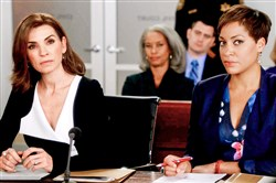 "Julianna Margulies as Alicia Florrick is joined by Cush Jumbo as Lucca Quinn in the new season of the CBS drama ""The Good Wife."""