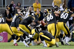 The kicking profession has become a dicey one in the NFL.  The Steelers cut Josh Scobee, who missed an extra point and 6 of 10 field-goal attempts, including two in the final 2½ minutes of their overtime loss to the Baltimore Ravens 11 days ago.