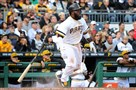 Josh Harrison went 3 for 4 against the Cincinnati Reds Sunday at PNC Park.