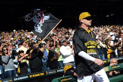 """Every one of you. That's why I came back. I love you,"" A.J. Burnett told the Pirates dugout Sunday."