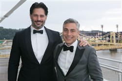 Joe Manganiello with Greg Barrett.