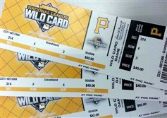 Tickets for tonight's NL wild-card game.
