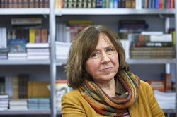 Belarussian writer Svetlana Alexievich won the 2015 Nobel Prize for Literature.
